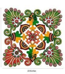 Paper Mache Ideas For Home Decor Rangoli Designs Diwali Buy Papier Mache Colorful Rangoli Home
