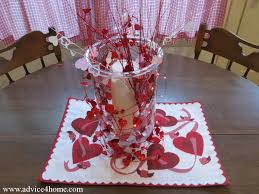 diy vase decoration with love placemat for valentine day table