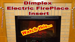 Electric Insert Fireplace Dimplex Electric Fireplace Insert Model Df3033 St Youtube
