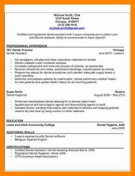dental resume format sample dental assistant blank resume