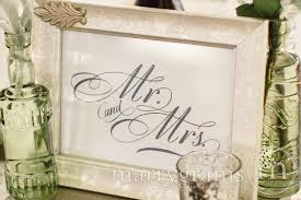 mr and mrs wedding signs mr and mrs sweetheart table sign calligraphy style