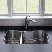 Kohler Stainless Steel Undermount Kitchen Sinks by K3891 Na Staccato Stainless Steel Undermount Double Bowl Kitchen