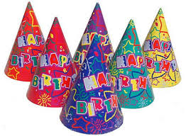 happy birthday hat birthday cone hats assorted designs each