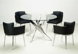 Glass Kitchen Tables And Chairs Extendable Glass Top Leather - Round glass kitchen table sets