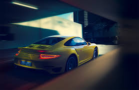 porsche californication porsche 911 turbo s cgi yellow not mellow on behance