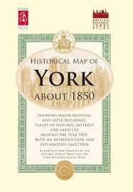 York England Map by Historical Map Of York About 1850 Historic Towns Atlas