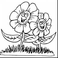 superb spring flower coloring pages with printable spring coloring