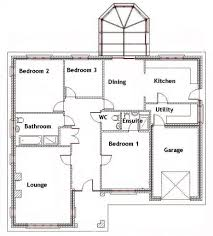 Floor Plans For Bungalow Houses 3 Bedroom Bungalow House Designs 3 Bedroom House Floor Plans In
