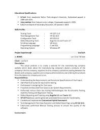 Nice Resumes Test Analyst Sample Resume Test Analyst Resume Samples Visualcv