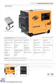 generatore gruppo elettrogeno diesel 4 5kw 4500w kde 6700ta