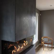contemporary gas fireplace ideas with glass