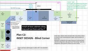 blind corner kitchen cabinet plans kitchen corner layout dead asymmetrical cabinet or blind