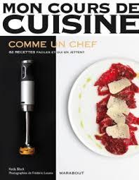 livre cours de cuisine livre de cuisine