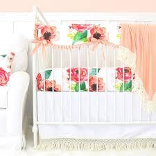 Green And White Crib Bedding Coral Crib Bedding Baby Bedding Caden