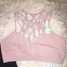 light pink sports bra forever 21 other light pink strappy sports bra poshmark