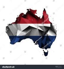 map australia netherlands flag colors dutch stock illustration