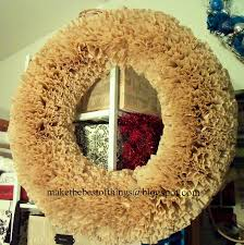 make the best of things big fluffy wreath from coffee filters and