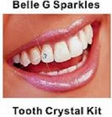 diamond stud in tooth g tooth kit 20 pieces clear crystals
