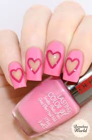 negative space heart nail art tutorial for valentines day