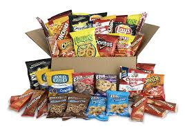 ultimate snack care package variety assortment of