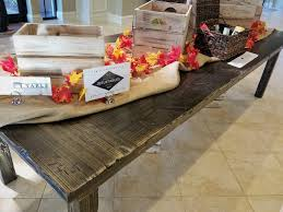 view our gallery lots rustic farm tables tables