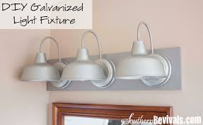 diy triple galvanized gooseneck vanity light fixture for under