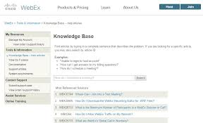q webex where can i go to view questions answers about webex