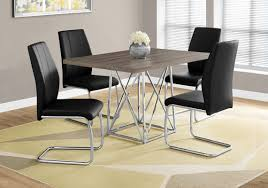 Metal Dining Room Chair Metal Dining Room Set Acme Furniture Caitlin Black Metal Dining