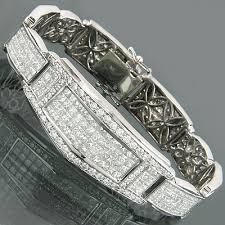 bracelet diamond men images Unique 18k gold invisible set princess cut diamond bracelet for jpg