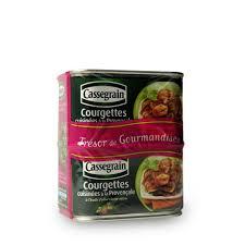 courgettes cuisin s courgettes cuisinées à la provençale cassegrain 2 x 375 g shoptimise
