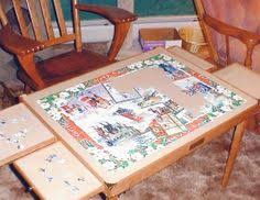 Jigsaw Puzzles Tables by Best Jigsaw Puzzle Table With Drawers Helps To Stay Organized