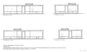 Glass House Floor Plans Glass House Philip Johnson Plan Elevation Escortsea