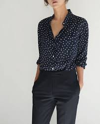 black polka dot blouse relaxed yet polished pinteres