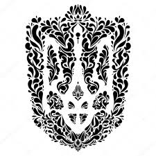 ukraine pattern vector emblem coat of arms ukraine stock vector superson 76135153