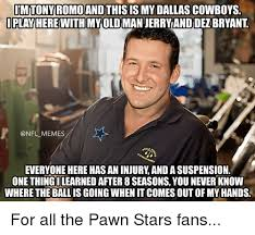 Dallas Cowboys Memes - tony romo and this is my dallas cowboys play here with myold man
