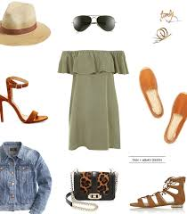tan army green topshop off the shoulder dress crystalin marie