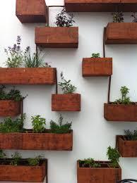 timber planter vertical herb garden vertical gardens pinterest