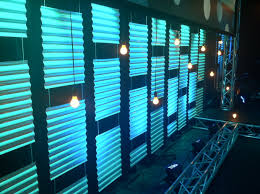 Lighting Arrangement City Club Theme Corrugated Plastic Roofing Material With Up