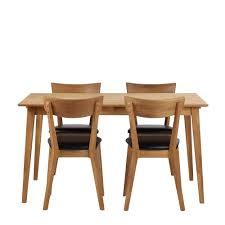 Ikea Esszimmergruppe Esszimmergruppe Mit Massivholztisch Und Stühlen Schwarz Kunstleder