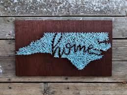 north carolina home string and nail art by stringandnail0 on etsy