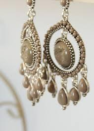beautiful antique gray hanging earrings modli