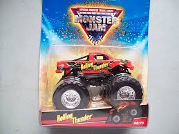 blue thunder monster truck videos amazon com wheels monster jam rolling thunder monster truck