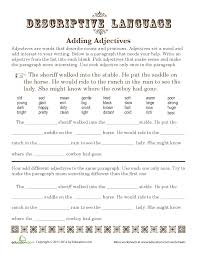 time to saddle up some adjectives descriptive language adds