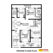 house plan for 35 feet by 50 feet plot plot size 194 square yards