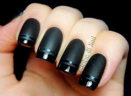 nail arts elegant black nails matte art designs black nail 50