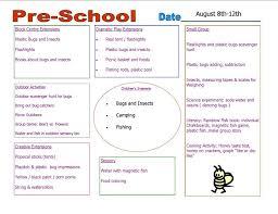 44 free lesson plan templates common preschool weekly
