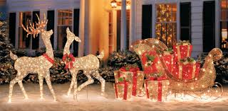 Rattan Reindeer Christmas Decorations by Winter Wonderland Outdoor Christmas Decoration Ideas