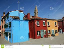 painted houses colorful painted houses in burano royalty free stock images