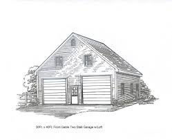 Loft Garage Plans by 30 X 36 2 Stall Fg Garage Building Blueprint Plans W Loft Ebay
