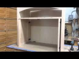 Building A Cabinet Door by Custom Pocket Doors On Media Cabinet Youtube
